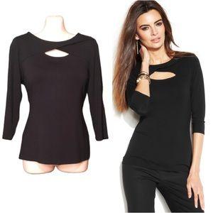 🆕VINCE CAMUTO 3/4 sleeves black top